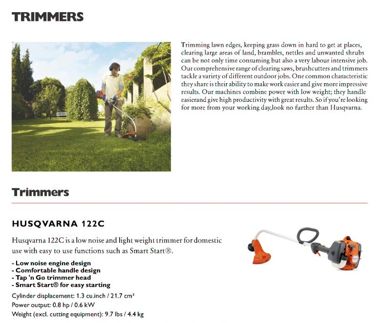 Trimmers - Albany Mowers & Machinery - Husqvarna sales