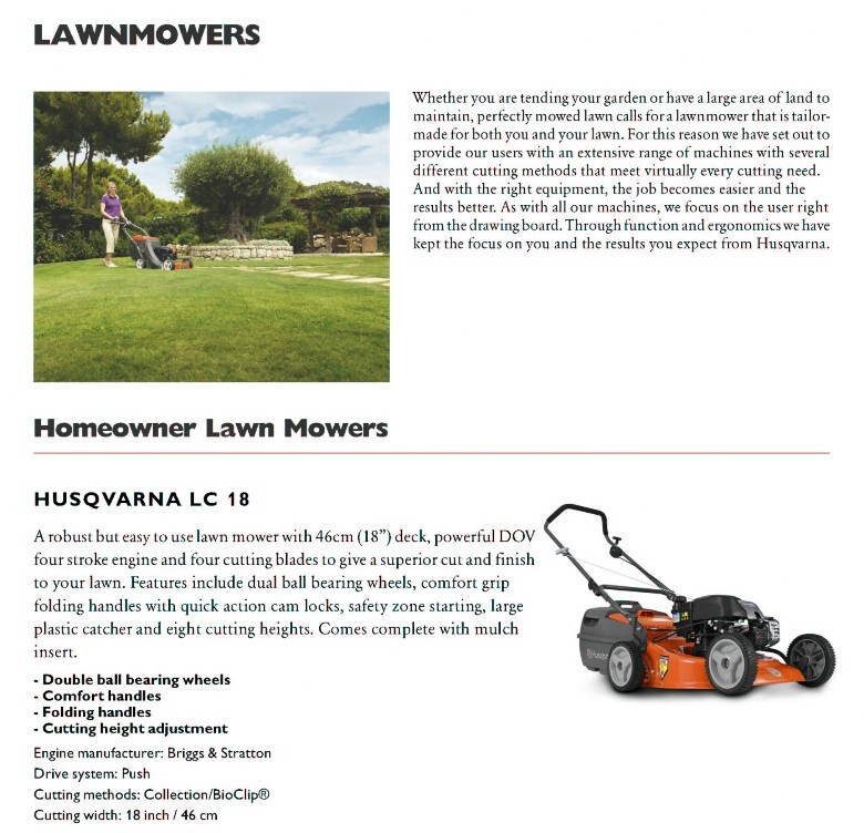 Husqvarna LC18 steel body mower